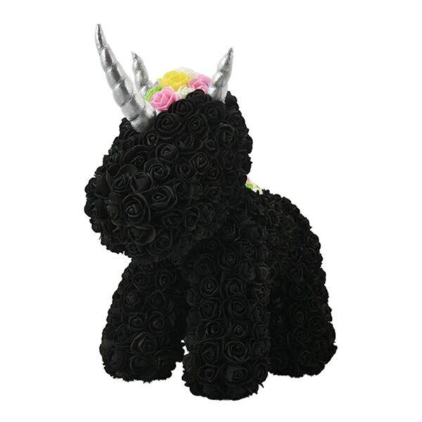 Licorne en rose éternelle noire