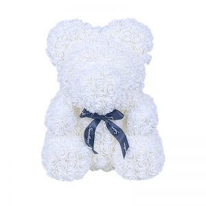 Ours en rose blanc 40 cm