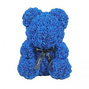 Ours en rose bleu 40 cm