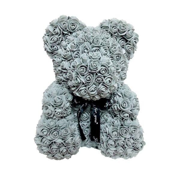 Ours en rose gris 40 cm