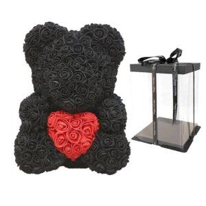ours en fleur éternelle noir