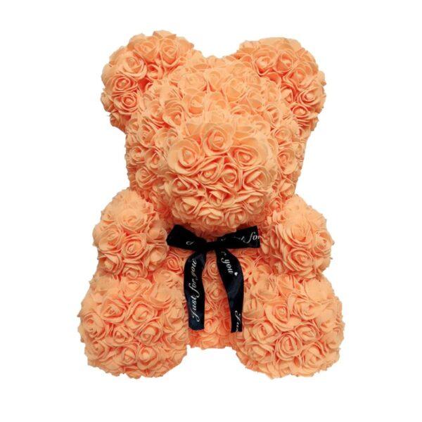 Ours en rose orange 40 cm