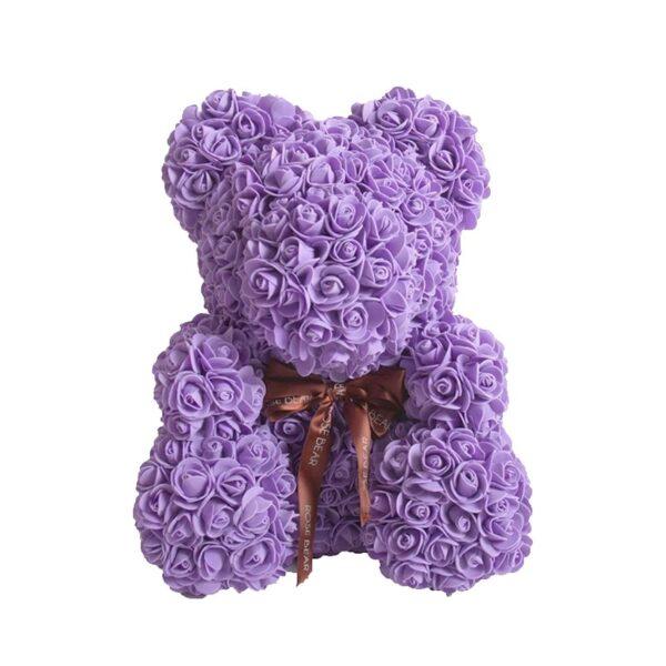Ours en rose violet 40 cm