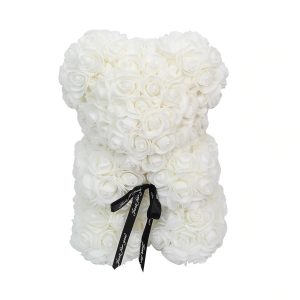Ours en rose éternelle blanc