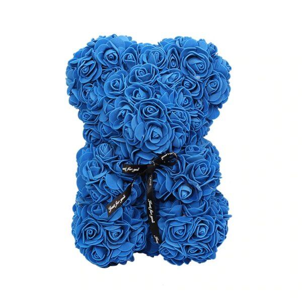 Ours en rose éternelle bleu