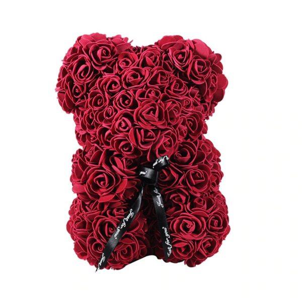Peluche de rose éternelle fuchsia