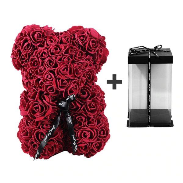 Ours en rose avec boite cadeau