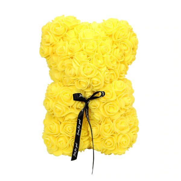 Ours en rose éternelle jaune