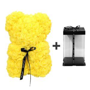 Ours en rose éternelle boîte jaune