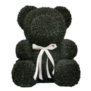 Ours en rose noir 70 cm