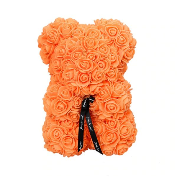 Petit nounours en rose orange