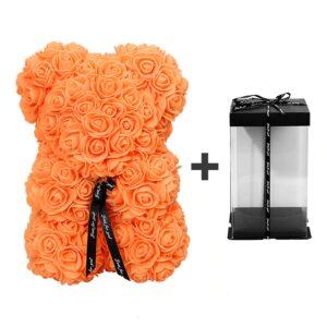 Ours en rose éternelle orange avec boite