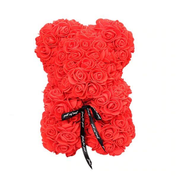 Ours en rose éternelle rouge