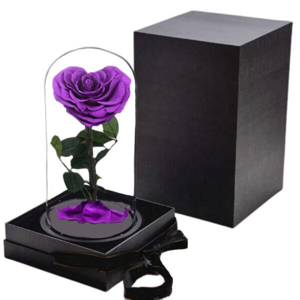 rose éternelle forme coeur