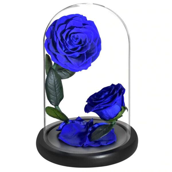 Roses Artificielles Haut de Gamme Bleu