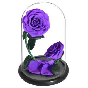 roses artificielles violettes