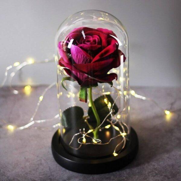 Rose Artificielle Violette