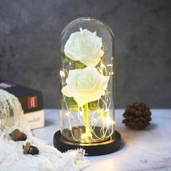 Fleurs Artificielles Roses Blanches