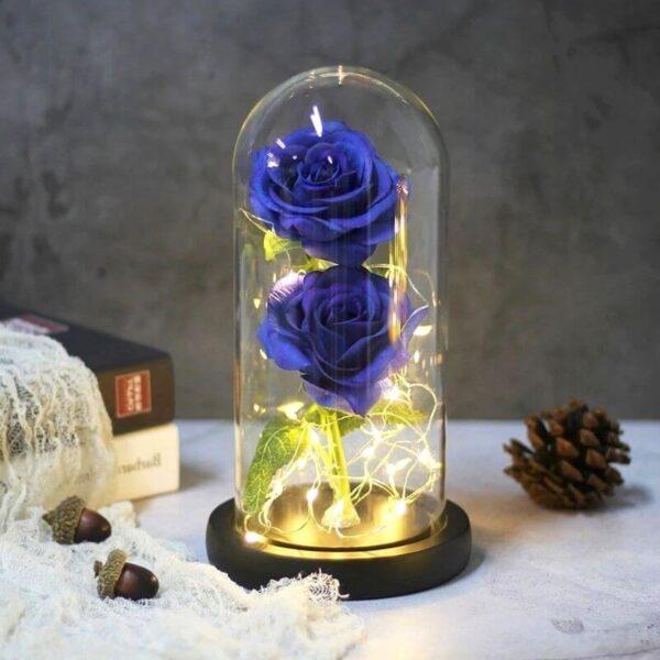 Rose Artificielle Bleu Marine