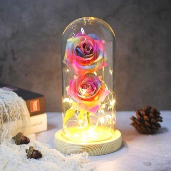 Rose multicolore artificielle