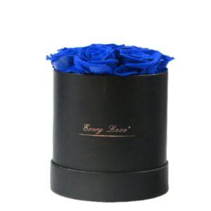 Boite à Rose Éternelle - Boite rose éternelle bleue