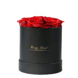 Boite avec Rose - Boite rose éternelle rouge