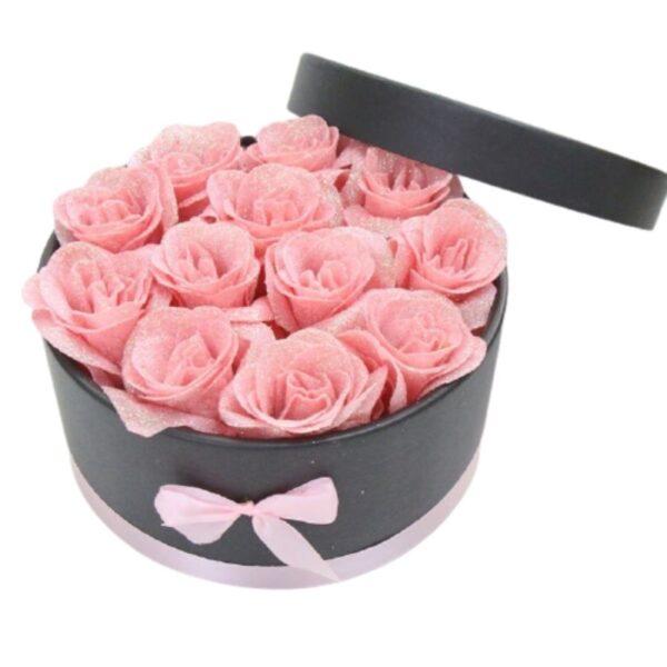 Boite de Roses - boite rose éternelle rose