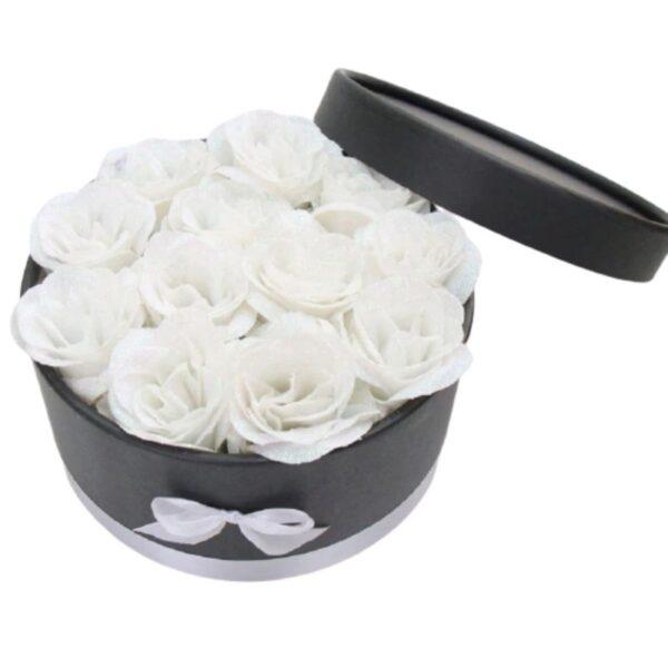 Bouquet éternel - boite rose éternelle blanche