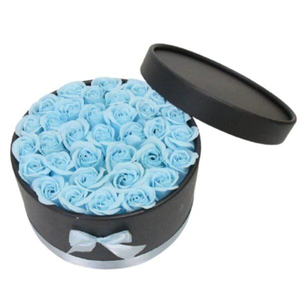 Coffret rose éternelle - Boite Rose éternelle Bleu Ciel