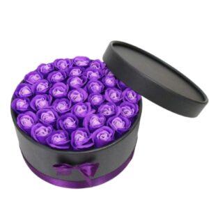 Coffret Rose - Boite rose éternelle violette bicolore