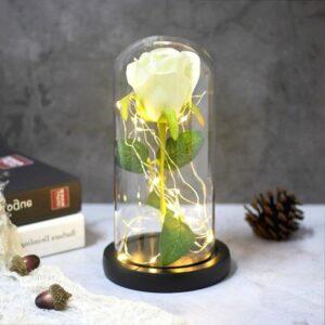 Fleur Artificielle Rose Blanche