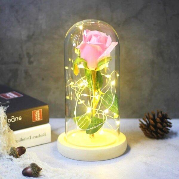 Fleur Artificielle Rose pale