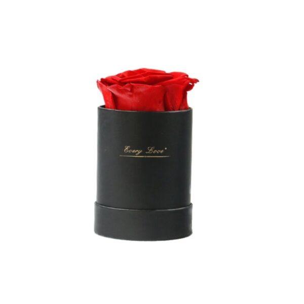 Fleur en Boite - Boite rose éternelle rouge