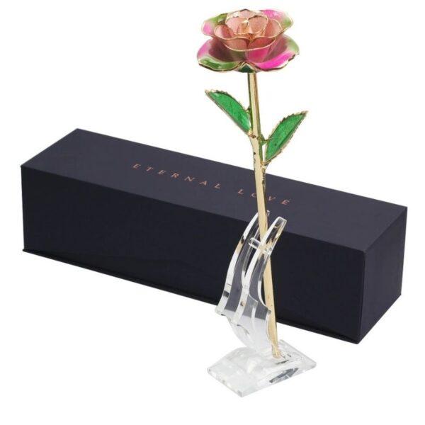 Fleur en or Multicolore - Rose éternelle or