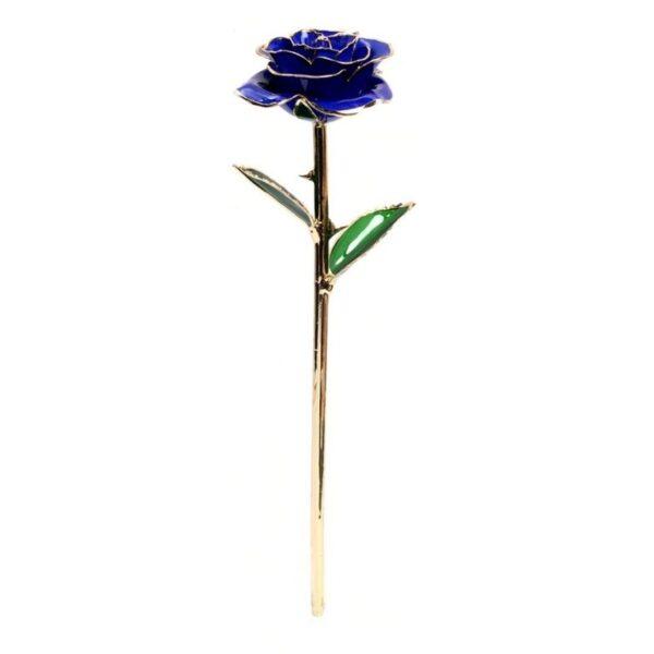 Fleur Or Bleu - Rose éternelle or