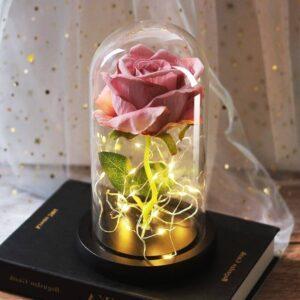 Rose Artificielle Géante Lumineuse