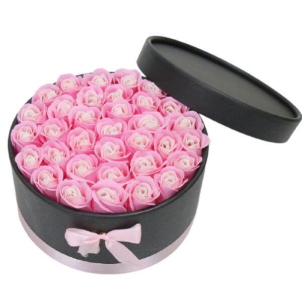 Rose en Boite - Boite rose éternelle rose bicolore