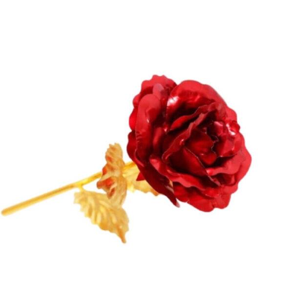 Rose éternelle 24 carats rouge - Rose éternelle or