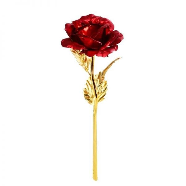Rose éternelle 24 carats rouge- Rose éternelle or