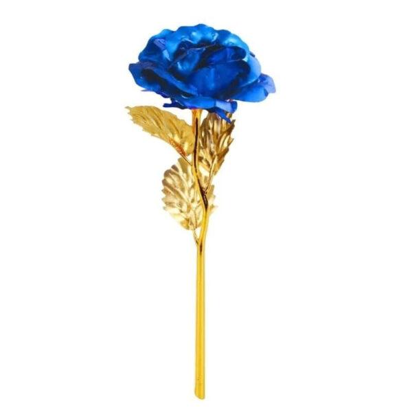 Rose Éternelle Or Bleu - Rose en or 24k