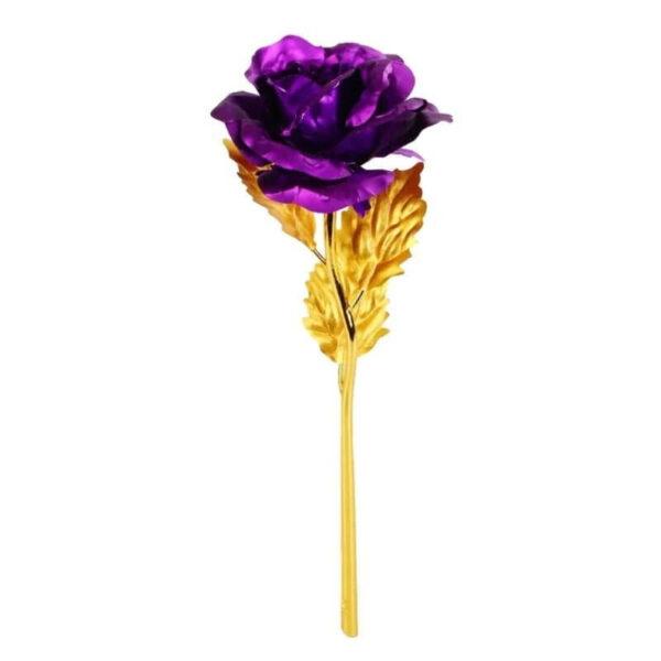 Rose éternelle Or Violet - Rose en or 24 carats