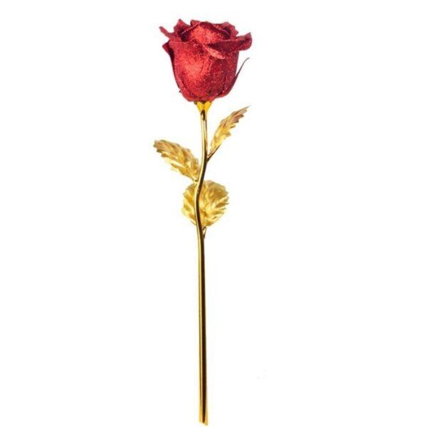 Rose éternelle Rouge et Or - Rose éternelle Or