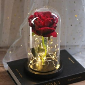 Rose Rouge Artificielle Lumineuse