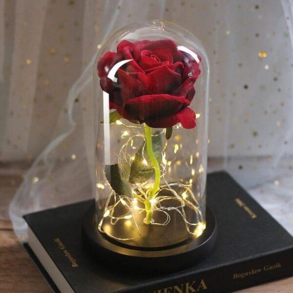Rose Rouge Artificielle Lumineuse