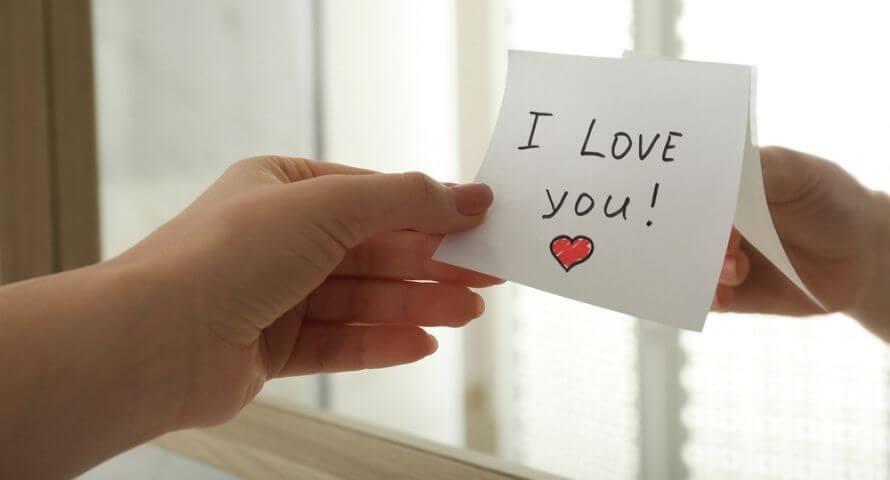 Mot pour dire je t'aime